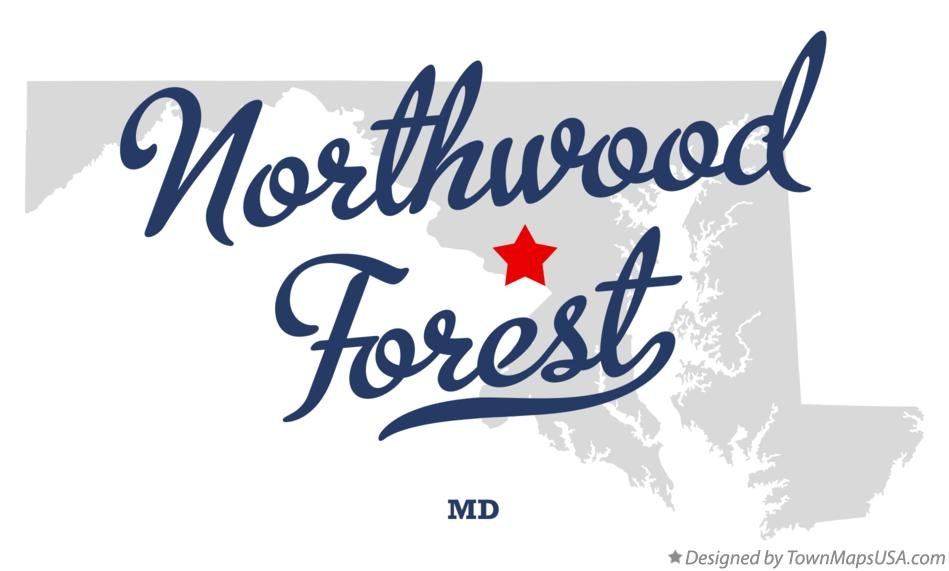 Map of Northwood Forest Maryland MD
