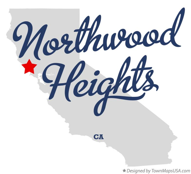 Map of Northwood Heights California CA