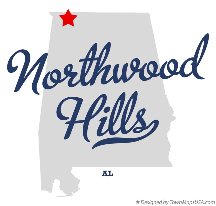Map of Northwood Hills Alabama AL