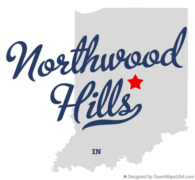 Map of Northwood Hills Indiana IN