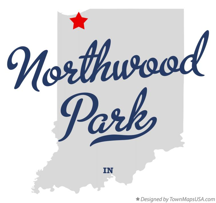 Map of Northwood Park Indiana IN