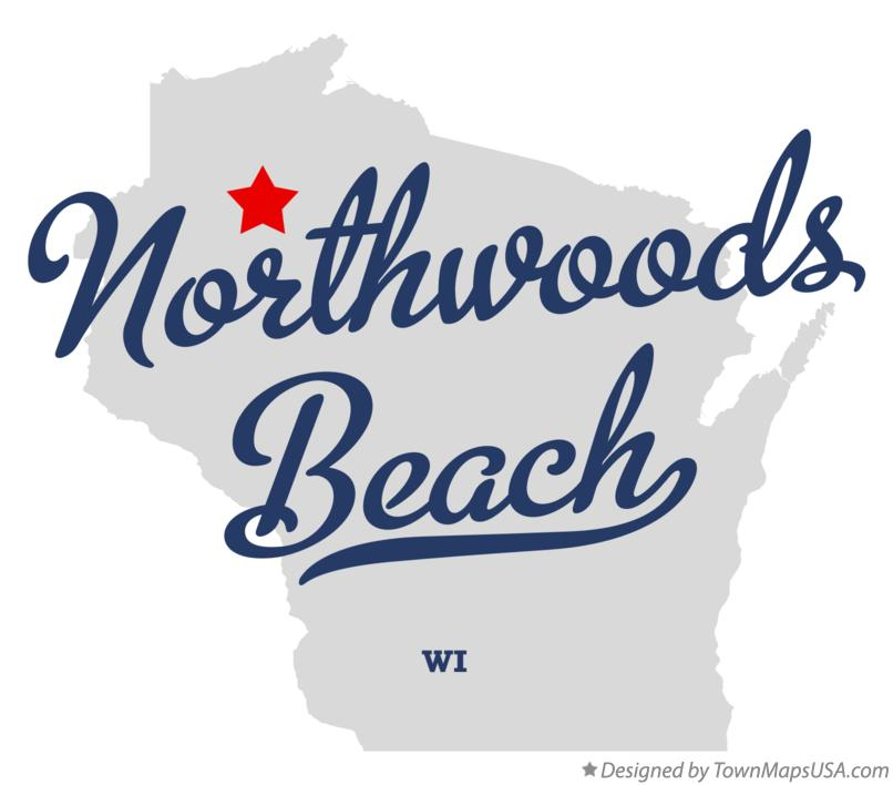 Map of Northwoods Beach Wisconsin WI