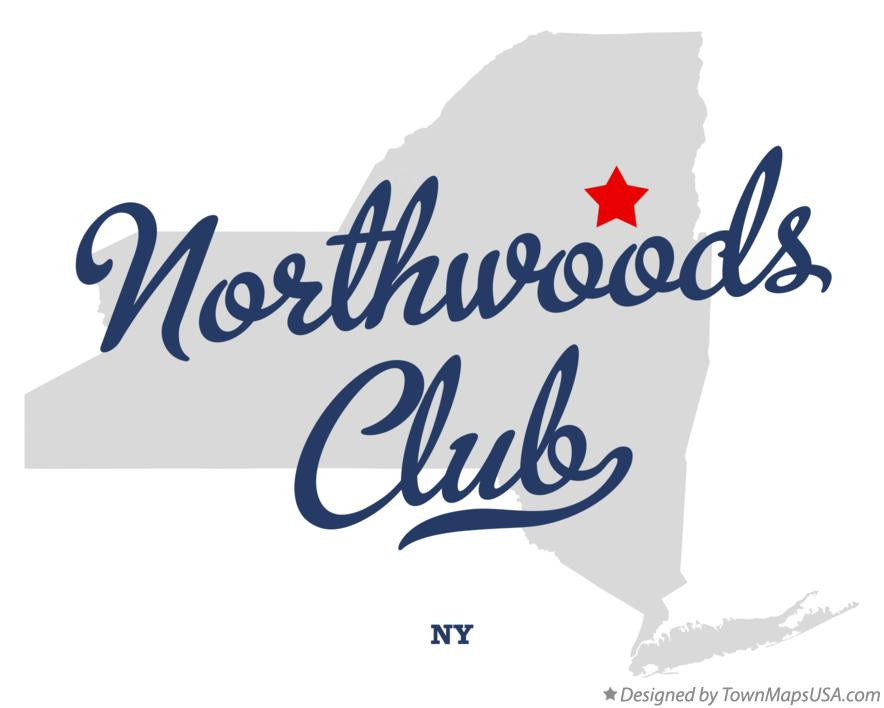 Map of Northwoods Club New York NY