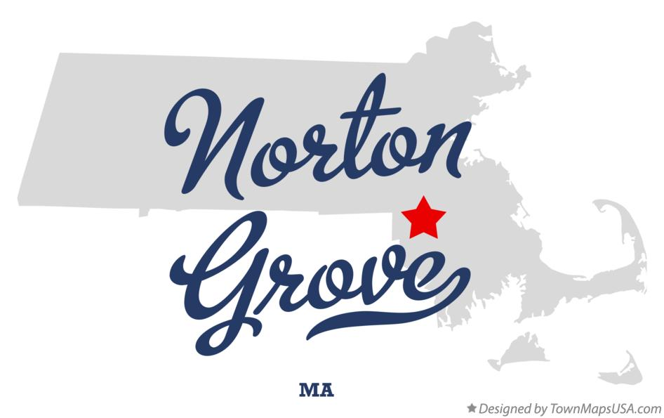 Map of Norton Grove Massachusetts MA
