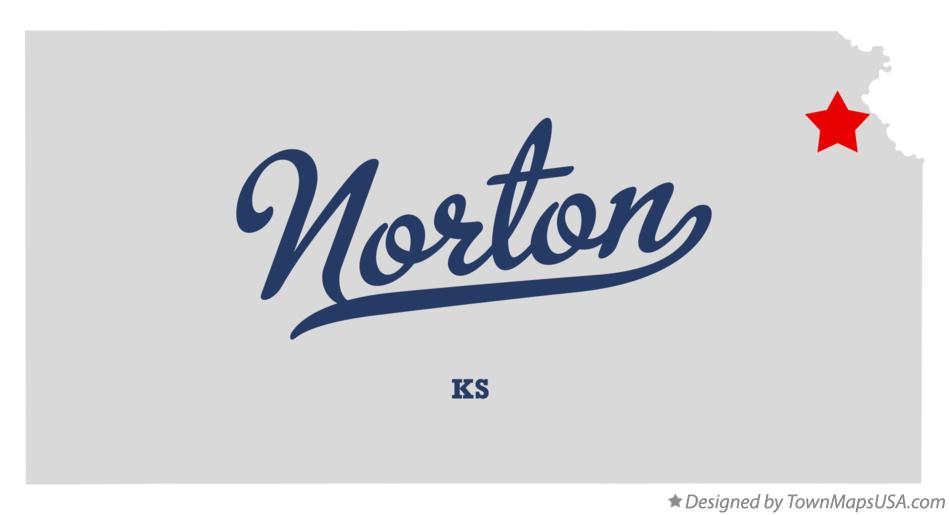 Map of Norton Kansas KS
