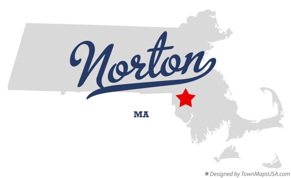 Map of Norton Massachusetts MA