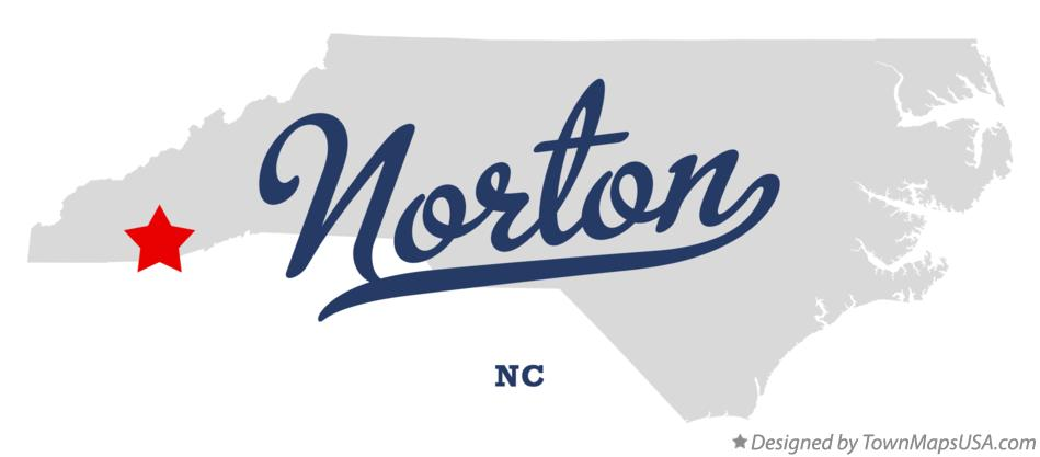 Map of Norton North Carolina NC
