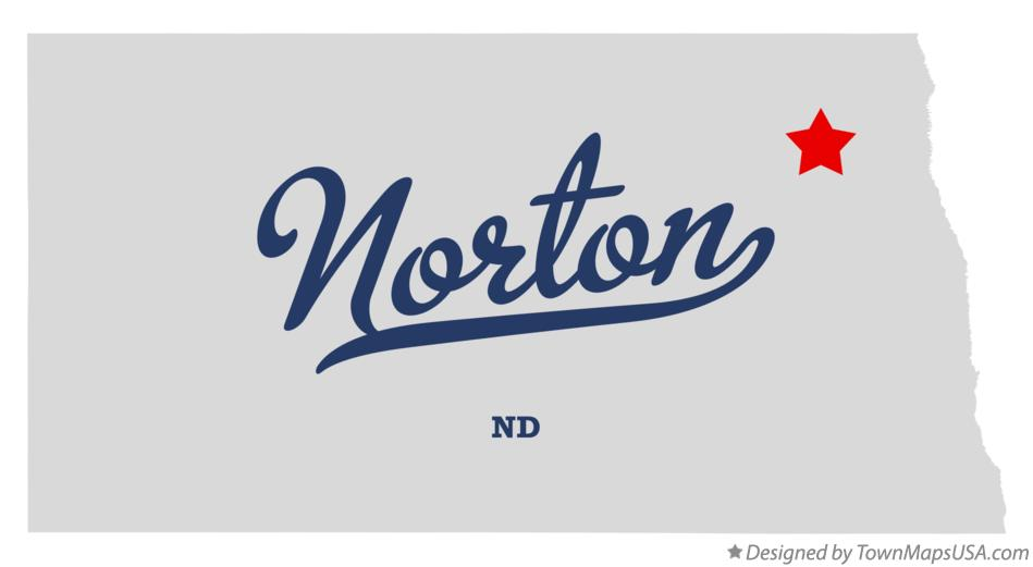 Map of Norton North Dakota ND