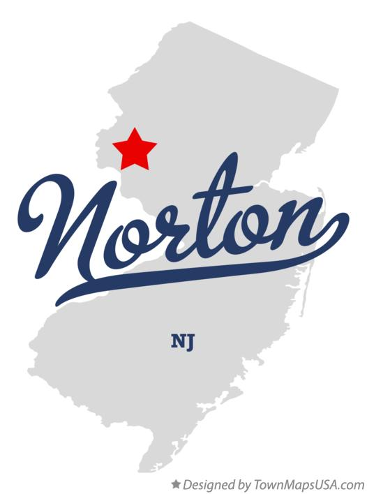 Map of Norton New Jersey NJ