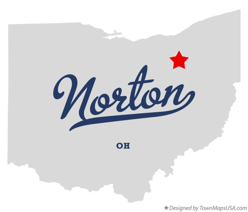 Map of Norton Ohio OH
