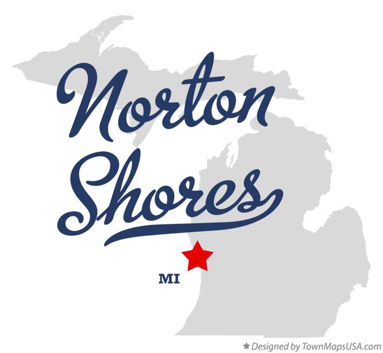Map of Norton Shores Michigan MI