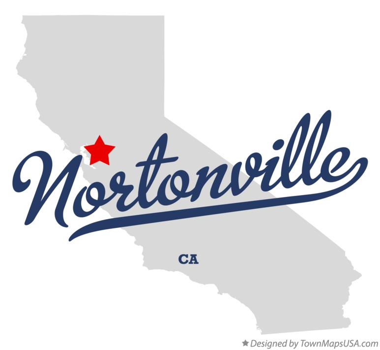 Map of Nortonville California CA