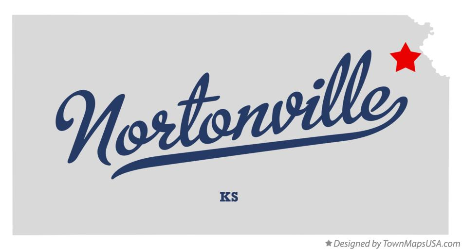 Map of Nortonville Kansas KS