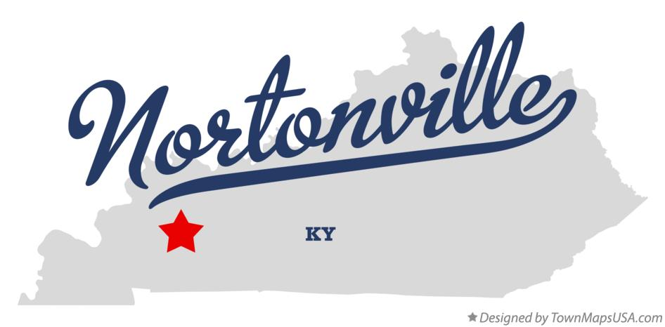 Map of Nortonville Kentucky KY