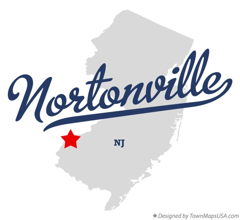 Map of Nortonville New Jersey NJ