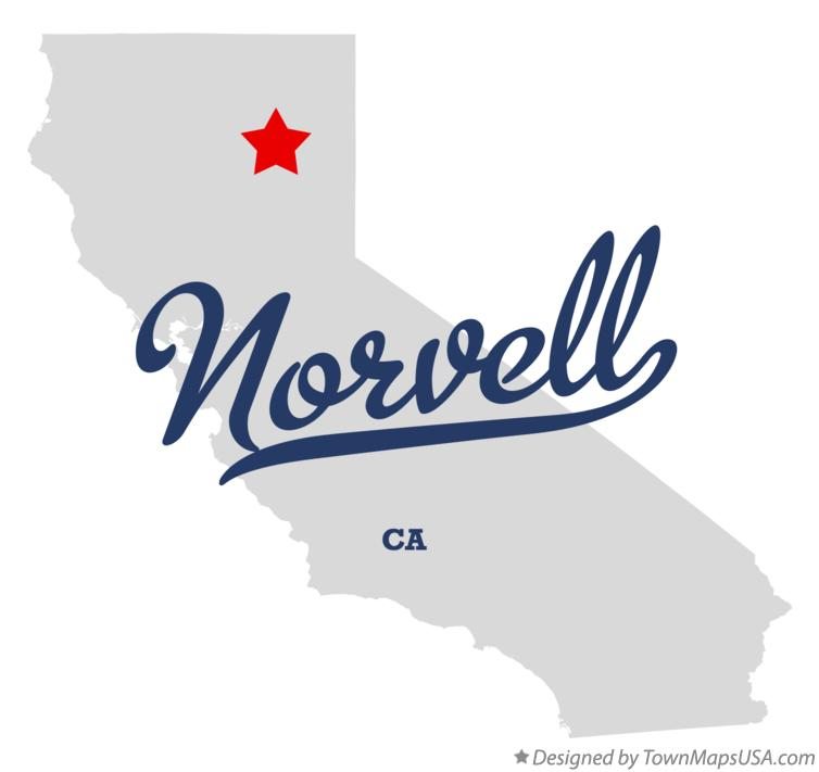 Map of Norvell California CA