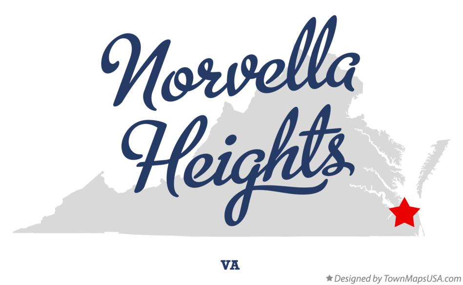 Map of Norvella Heights Virginia VA