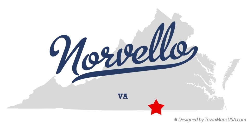 Map of Norvello Virginia VA