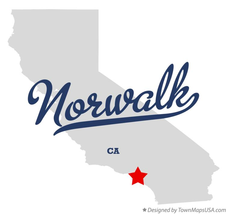 Map of Norwalk California CA