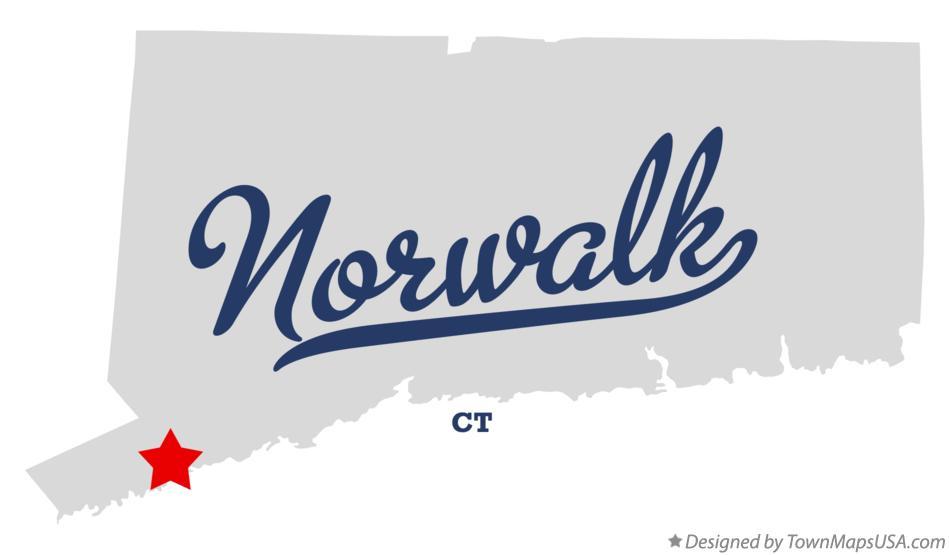 Map of Norwalk, CT, Connecticut