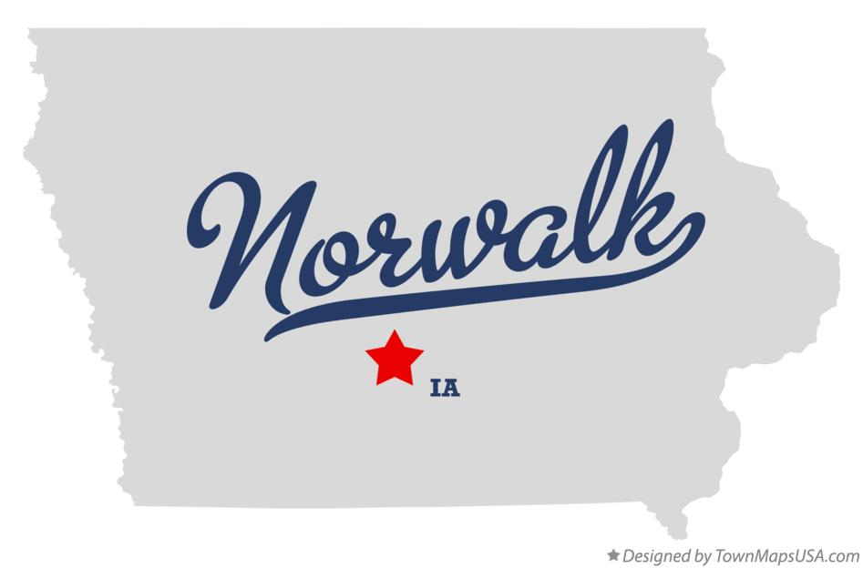 Map of Norwalk Iowa IA