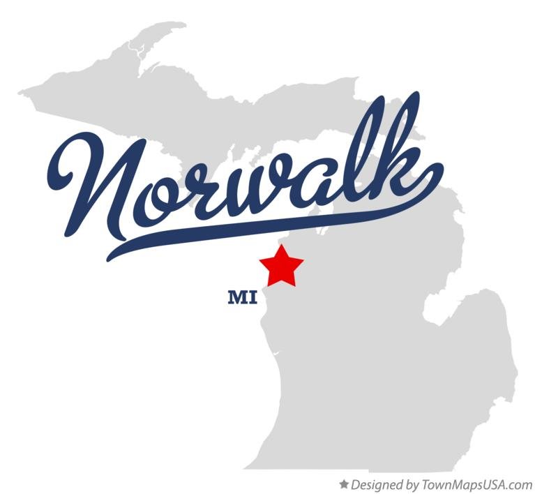 Map of Norwalk Michigan MI