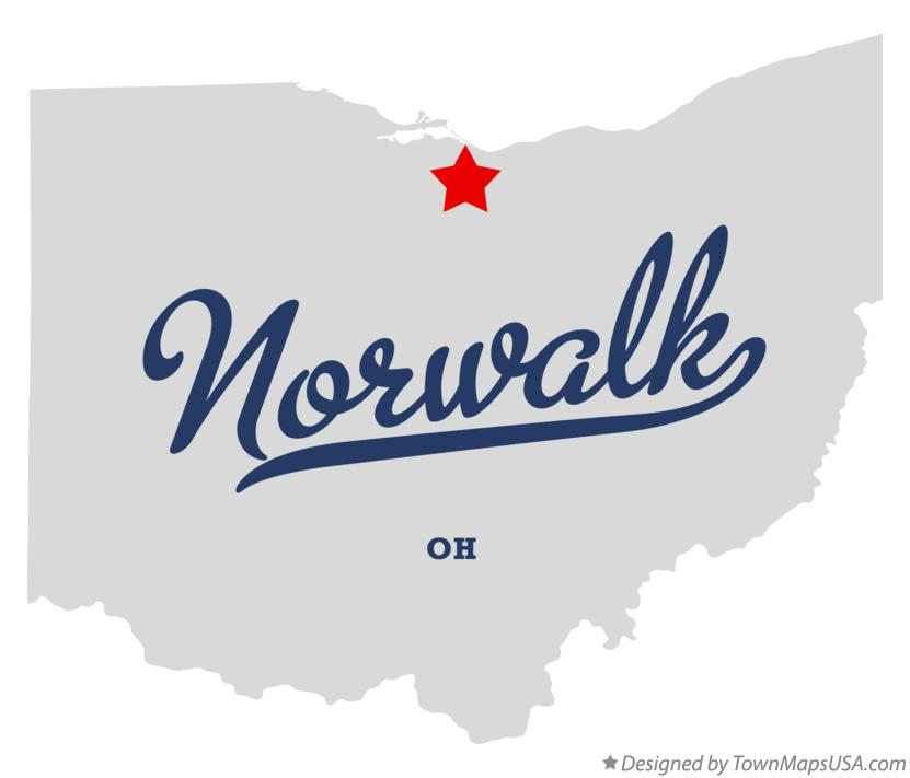 Map of Norwalk Ohio OH