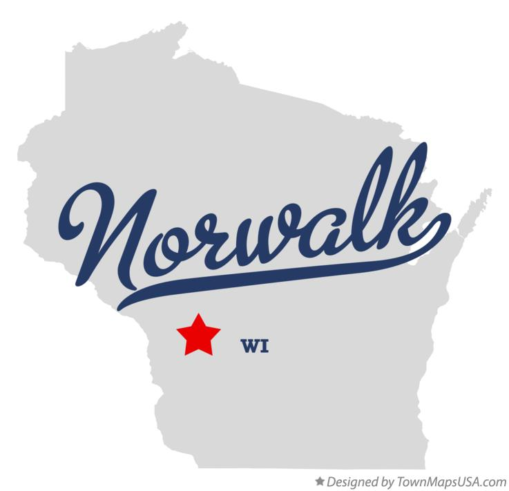 Map of Norwalk Wisconsin WI