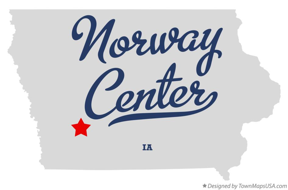 Map of Norway Center Iowa IA