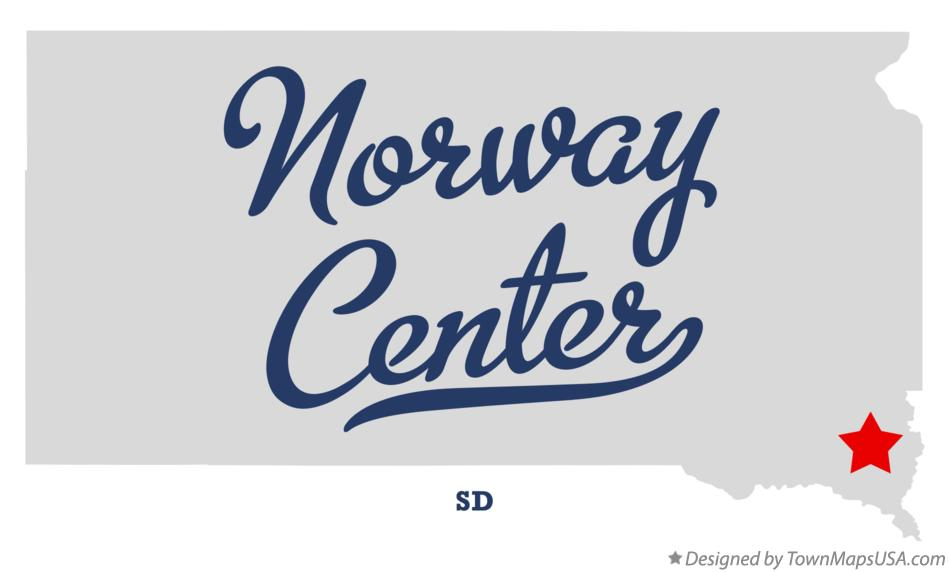 Map of Norway Center South Dakota SD
