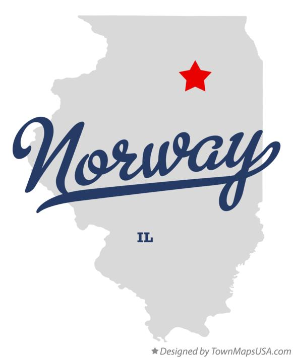 Map of Norway Illinois IL