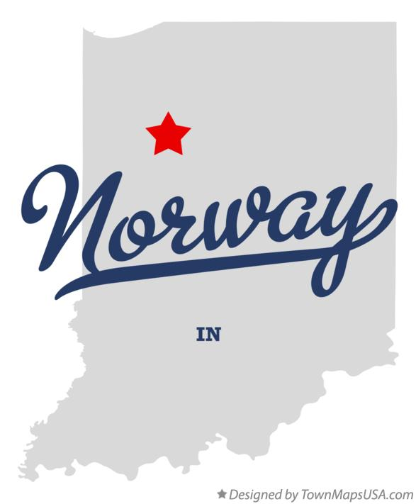 Map of Norway Indiana IN