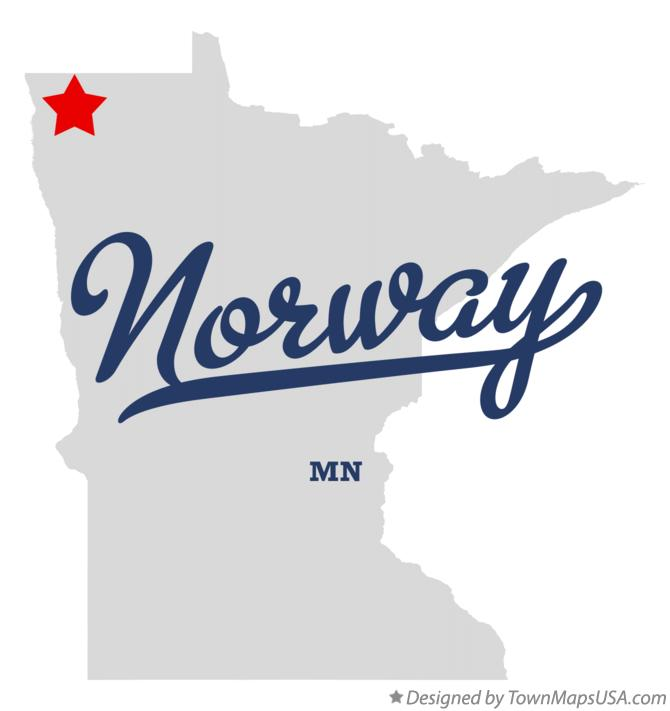 Map of Norway Minnesota MN