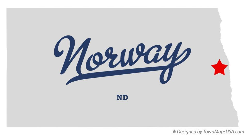 Map of Norway North Dakota ND