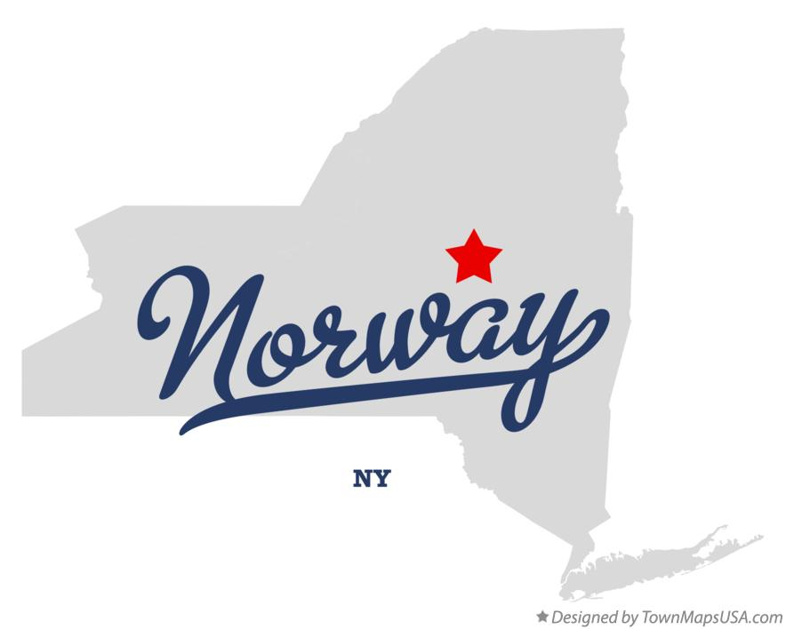 Map of Norway New York NY