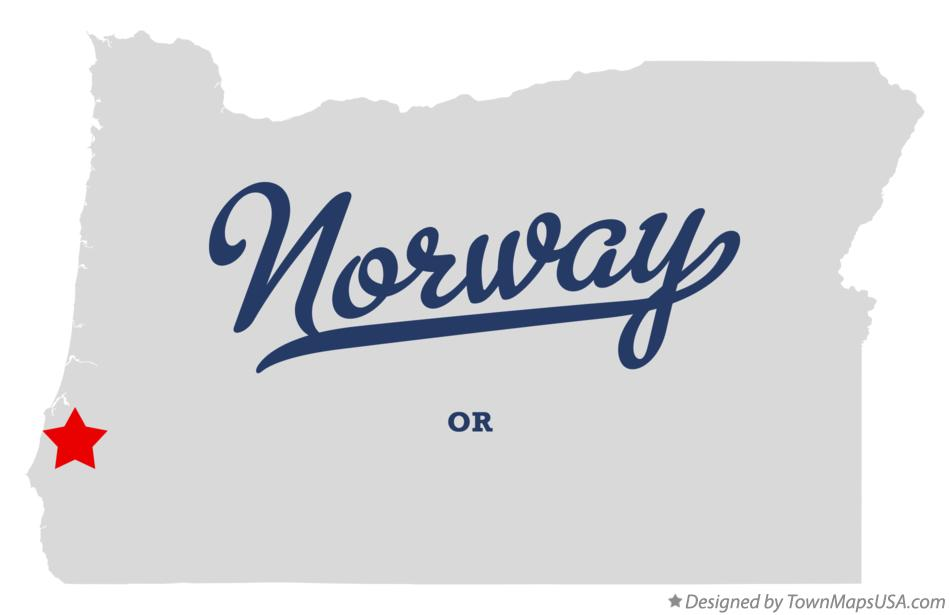 Map of Norway Oregon OR