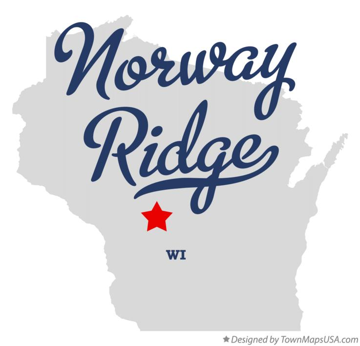 Map of Norway Ridge Wisconsin WI