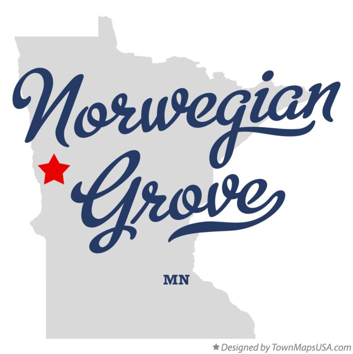 Map of Norwegian Grove Minnesota MN