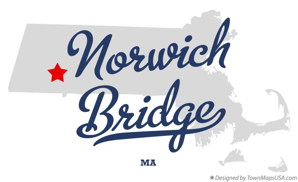 Map of Norwich Bridge Massachusetts MA