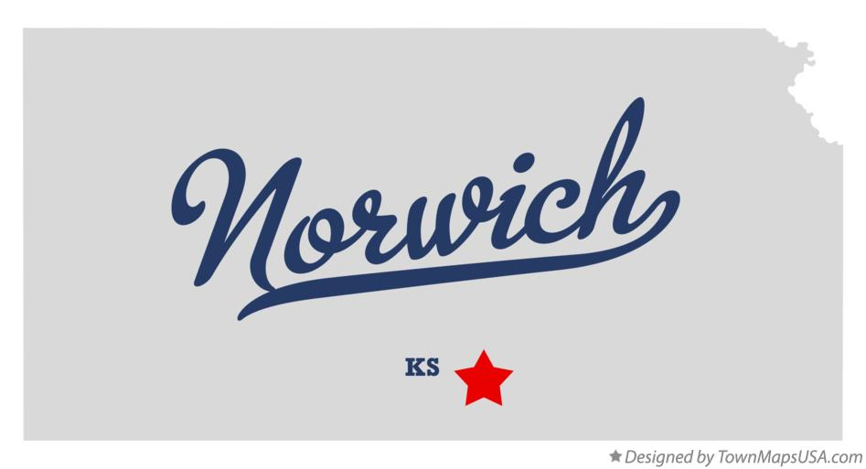 Map of Norwich Kansas KS