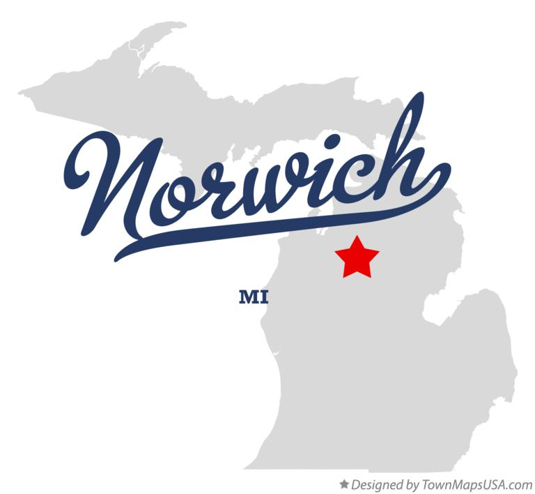 Map of Norwich Michigan MI