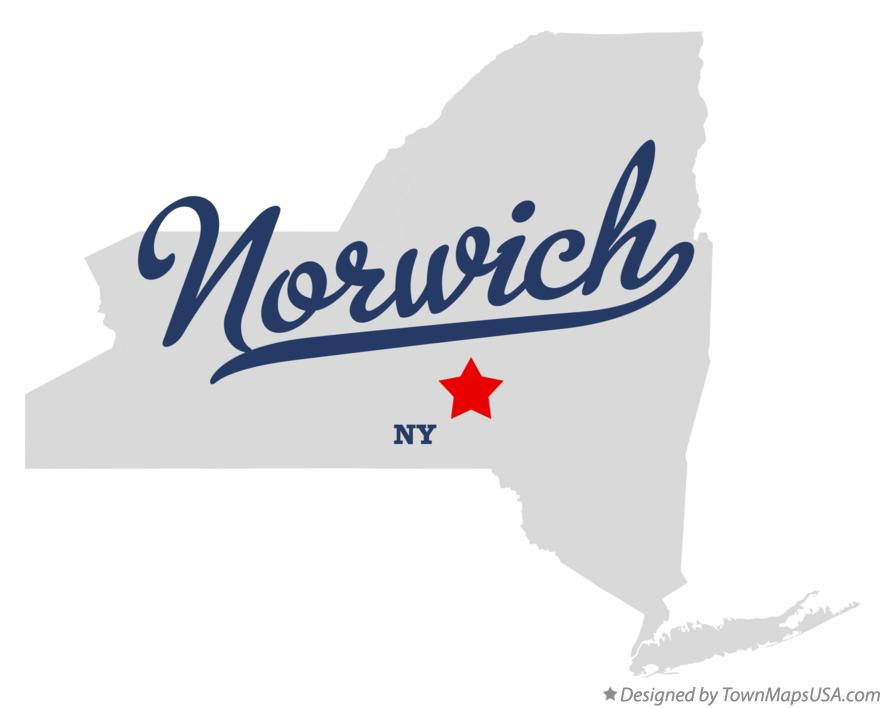 Map of Norwich New York NY
