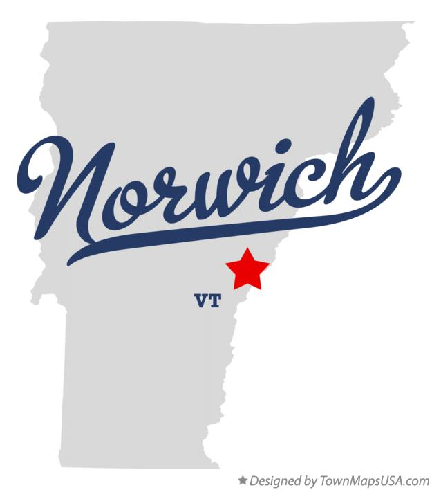 Map of Norwich Vermont VT