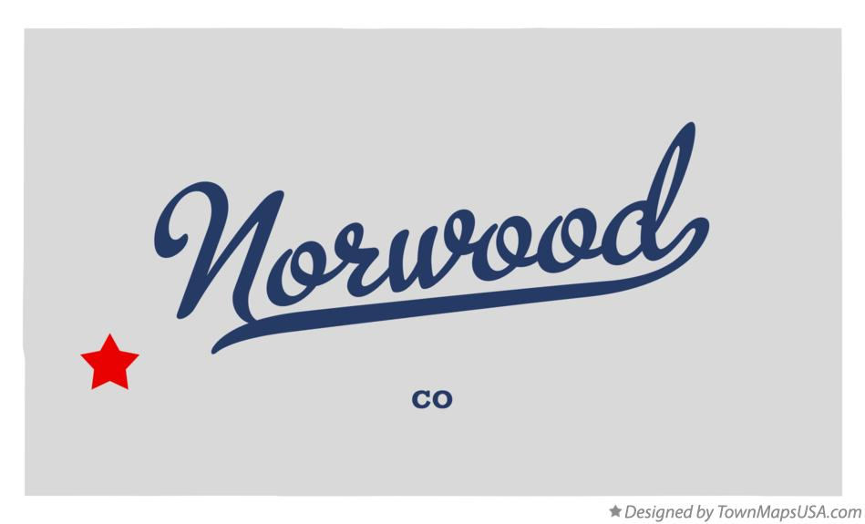 Map of Norwood Colorado CO