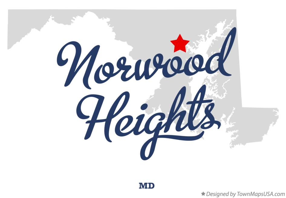 Map of Norwood Heights Maryland MD