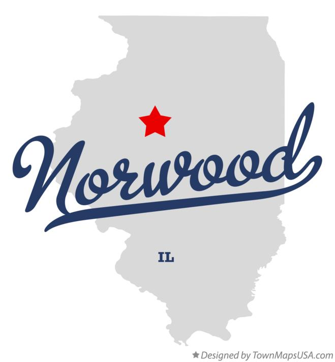 Map of Norwood Illinois IL