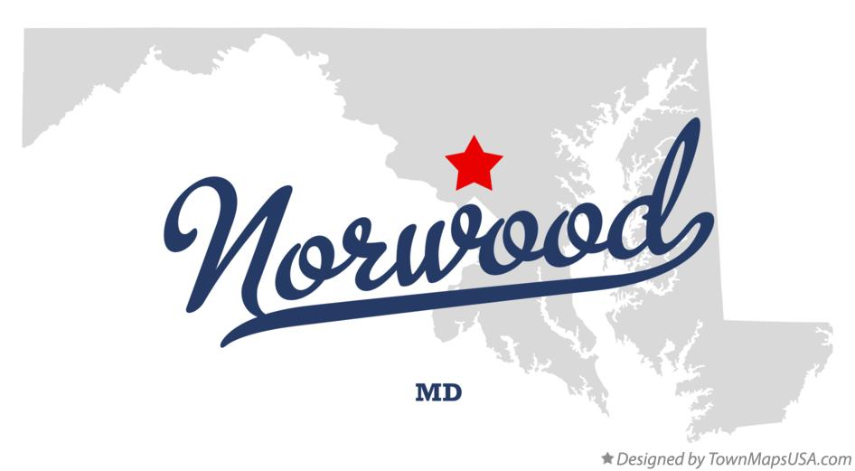 Map of Norwood Maryland MD