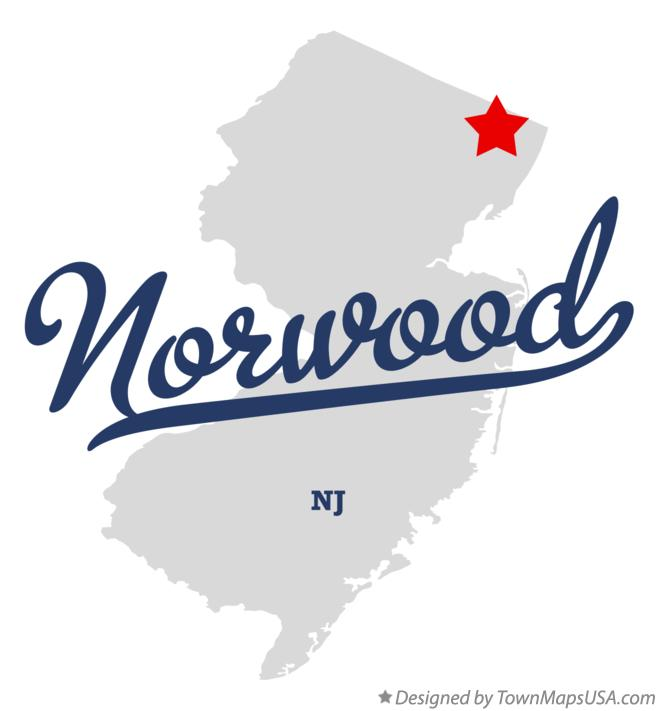Map of Norwood New Jersey NJ