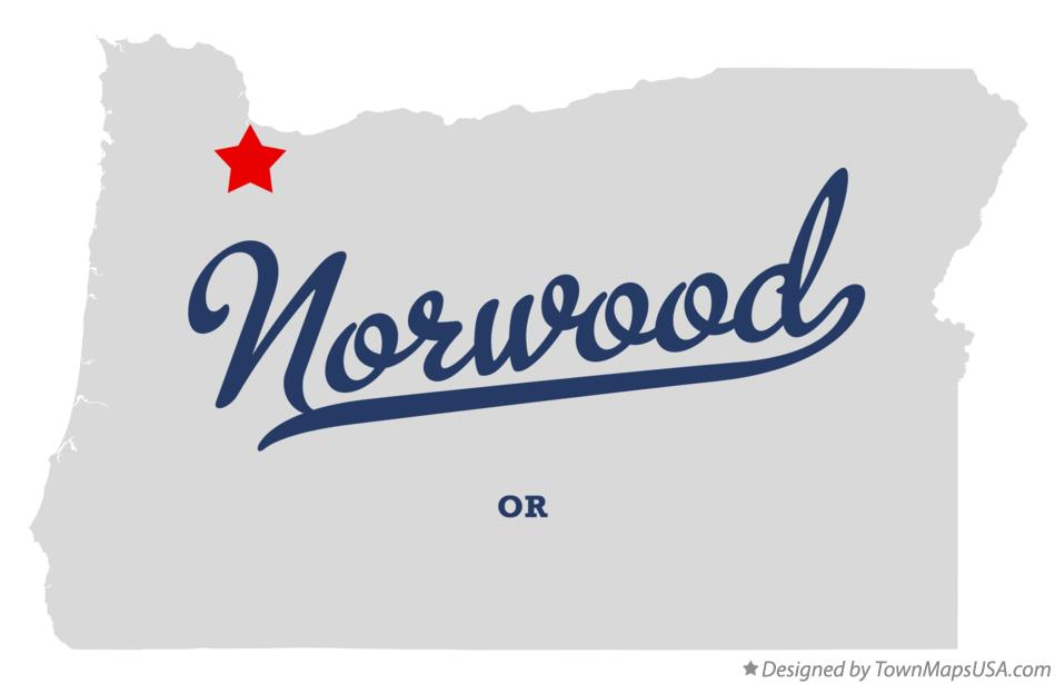 Map of Norwood Oregon OR