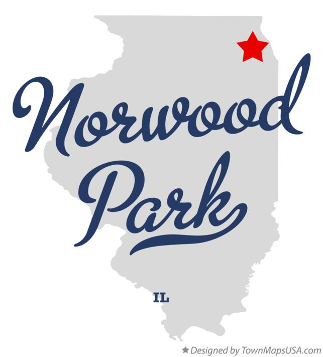 Map of Norwood Park Illinois IL